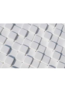 Mozaika Marmurowa Lego 3D Śnieżnobiała