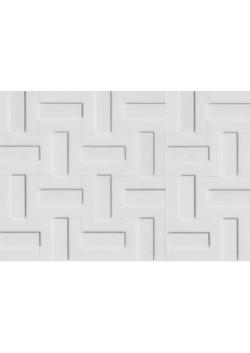 Mozaika Tetris 3D Śnieżnobiała