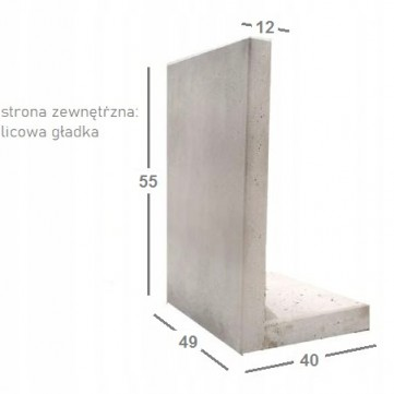 Mur Oporowy L-KA 80/99cm